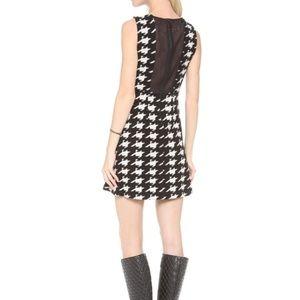 Alice + Olivia Everleigh Houndstooth Knit Dress